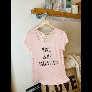 Francescas Collections NWT wine valentine top.